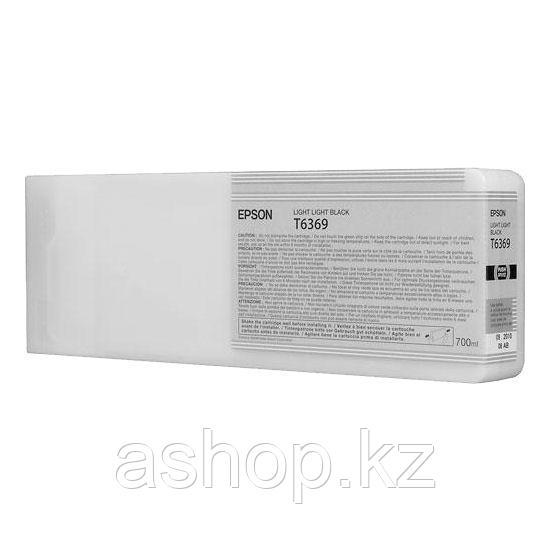 Картридж Epson C13T636900 (№T6369), Объем: 700 мл, Цвет: Светло-серый, Совместимость: Stylus Pro 7700, 7890, 7