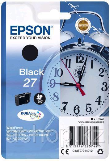 Картридж Epson C13T27014022 (№27), Объем: 6,2 мл, Копий ( ISO 19752): 350, Цвет: Чёрный, Совместимость: WorkFo