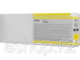 Картридж Epson C13T636400 (№Т6364), Объем: 700 мл, Цвет: Жёлтый, Совместимость: Epson Stylus Pro-7700, 7890, 7