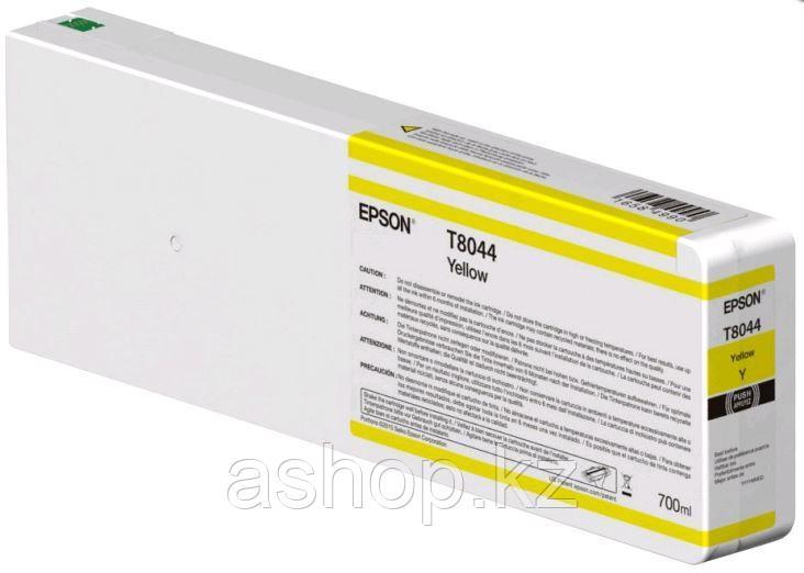 Картридж Epson C13T804400 (№T8044), Объем: 700 мл, Цвет: Жёлтый, Совместимость: SureColor SC-P6000/SC-P7000/SC