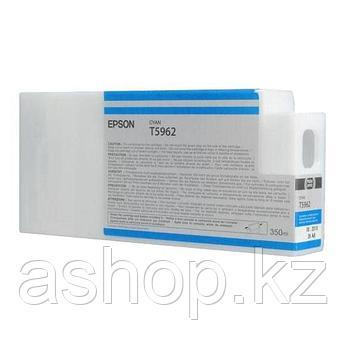 Картридж Epson C13T596200 (№T5962), Объем: 350 мл, Цвет: Голубой, Совместимость: Stylus Pro 7700, 7890, 7900,