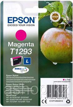 Картридж Epson C13T12934012 (№T1293L), Объем: 7 мл, Копий ( ISO 19752): 330, Цвет: Пурпурный, Совместимость: S