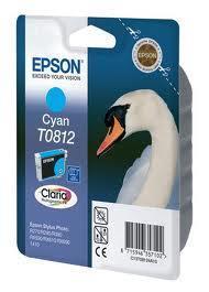 Картридж Epson C13T11124A10 (№T0812), Объем: 11,1 мл, Копий ( ISO 19752): 1560, Цвет: Голубой, Совместимость: