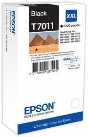Картридж Epson C13T70114010 (№T7011), Объем: 63,2 мл, Цвет: Чёрный, Совместимость: WorkForce Pro WP-4015DN, WP
