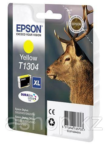 Картридж Epson C13T13044012 (№T1304XL), Объем: 10,1 мл, Копий ( ISO 19752): 1005, Цвет: Жёлтый, Совместимость: