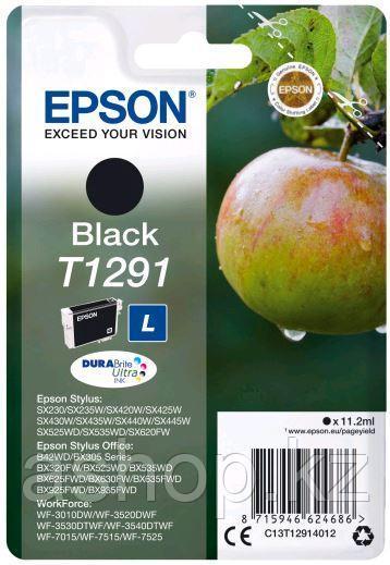 Картридж Epson C13T12914012 (№T1291L), Объем: 11,2 мл, Копий ( ISO 19752): 385, Цвет: Чёрный, Совместимость: S