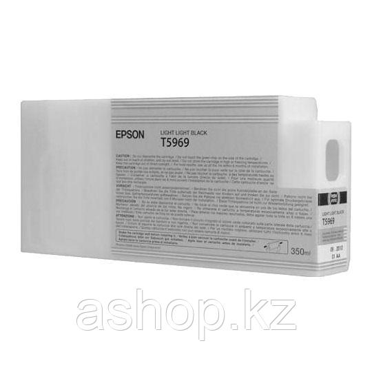 Картридж Epson C13T596900 (№T5969), Объем: 350 мл, Цвет: Светло-серый, Совместимость: Stylus Pro 7700, 7890, 7
