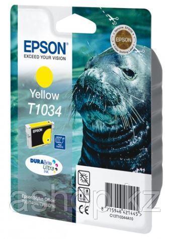Картридж Epson C13T10344A10 (№T1034), Объем: 25,9 мл, Цвет: Жёлтый, Совместимость: Stylus Office T30/T40W/T110