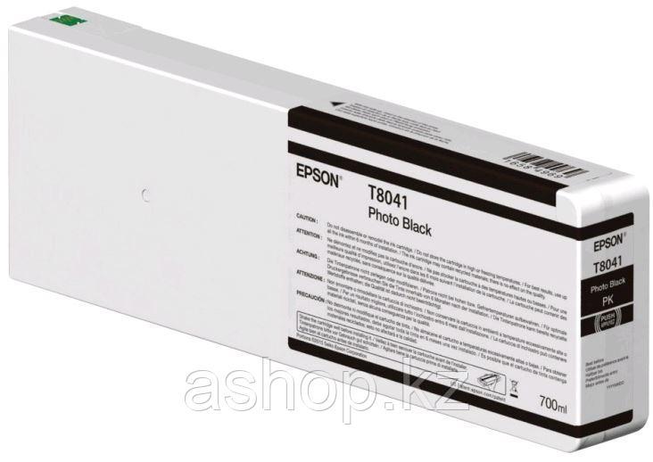 Картридж Epson C13T804100 (№T8041), Объем: 700 мл, Цвет: Чёрный, Совместимость: SureColor SC-P6000/SC-P7000/SC