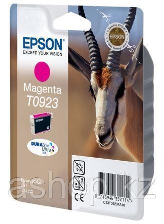 Картридж Epson C13T10834A10 (№T0923), Объем: 5,5 мл, Копий ( ISO 19752): 280, Цвет: Пурпурный, Совместимость: