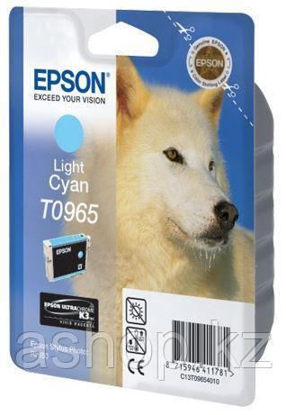 Картридж Epson C13T09654010 (№T0965), Объем: 11,4 мл, Копий ( ISO 19752): 865, Цвет: Светло-голубой, Совместим