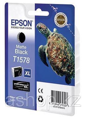 Картридж Epson C13T15784010 (№T1578), Объем: 25,9 мл, Копий ( ISO 19752): 850, Цвет: Чёрный матовый, Совместим