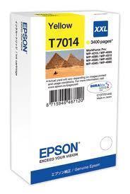Картридж Epson C13T70144010 (№T7114), Копий ( ISO 19752): 3400, Цвет: Жёлтый, Совместимость: WP-4015 D/4095 DN