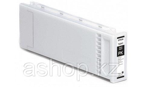 Картридж Epson C13T694100 (№T6941), Объем: 700 мл, Цвет: фото чёрный, Совместимость: SureColor SC-T3000, SC-T3
