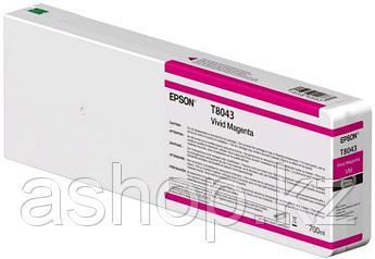 Картридж Epson C13T804300 (№T8043), Объем: 700 мл, Цвет: Пурпурный, Совместимость: SureColor SC-P6000/SC-P7000