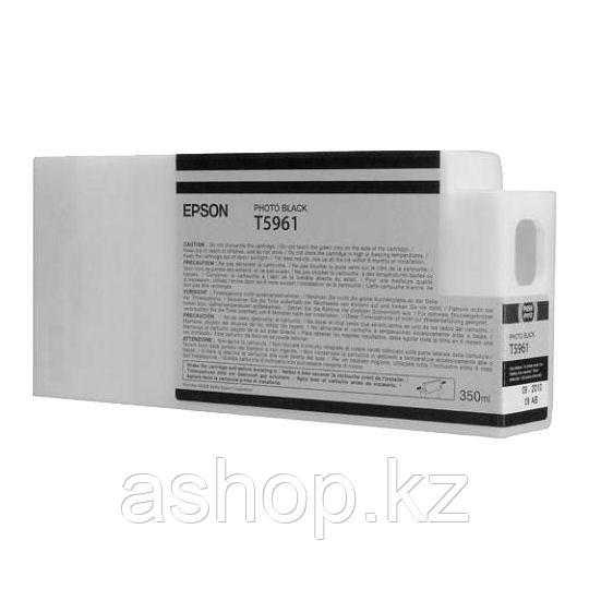 Epson C13T596100 (№T5961), Объем: 350 мл, Цвет: фото чёрный, Совместимость: Stylus Pro 7700, 7890, 7900, 9700