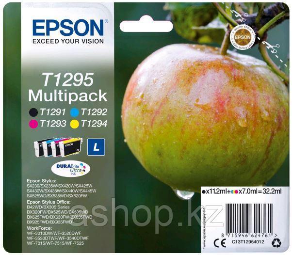 Набор картриджей Epson C13T12954012 (№T1295L), Объем: Черный - 11,2 мл: цветной - 7 мл, Копий ( ISO 19752): 33