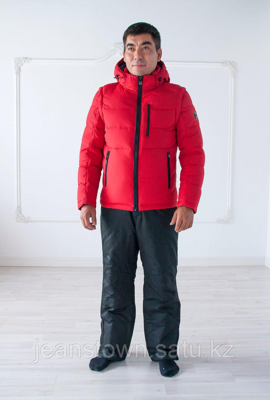 Куртка мужская зимняя King Wind красная,короткая