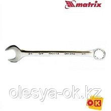 Ключ 7 мм, CrV, матовый хром. MATRIX