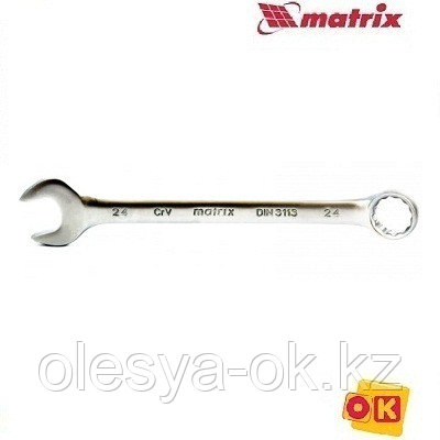 Ключ 22 мм,12-гранный, матовый хром. MATRIX, фото 2