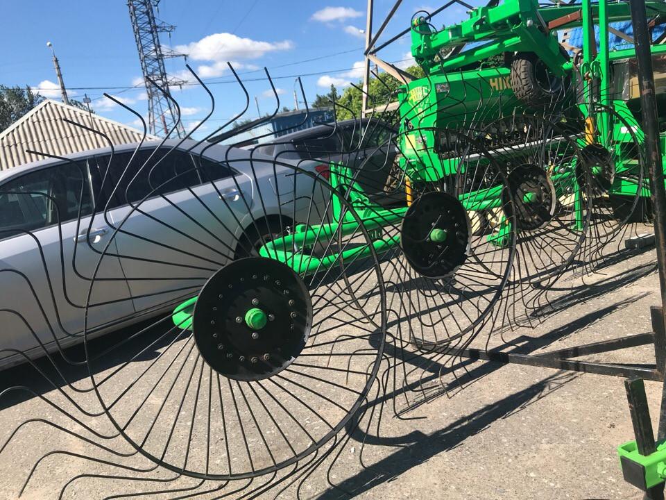 Турецкие грабли-ворошилки 4х колесные Agrolead