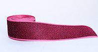 Лента эластичная для одежды, с усиленным краем, бордовая, 4 см