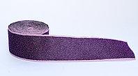 Лента эластичная для одежды, с усиленным краем, темно-фиолетовая, 4 см