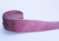 Лента эластичная, розовая, 4 см