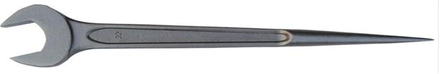 Стальной рожковый заостренный ключ 17 мм