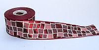 Лента эластичная, красная ромб, 5 см