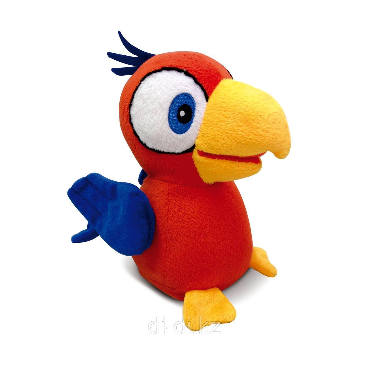 Попугай Charlie интерактивный (красный), повторяет слова, шевелит клювом, мягконабивной