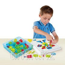 Детская болтовая мозаика 180 деталей, фото 2