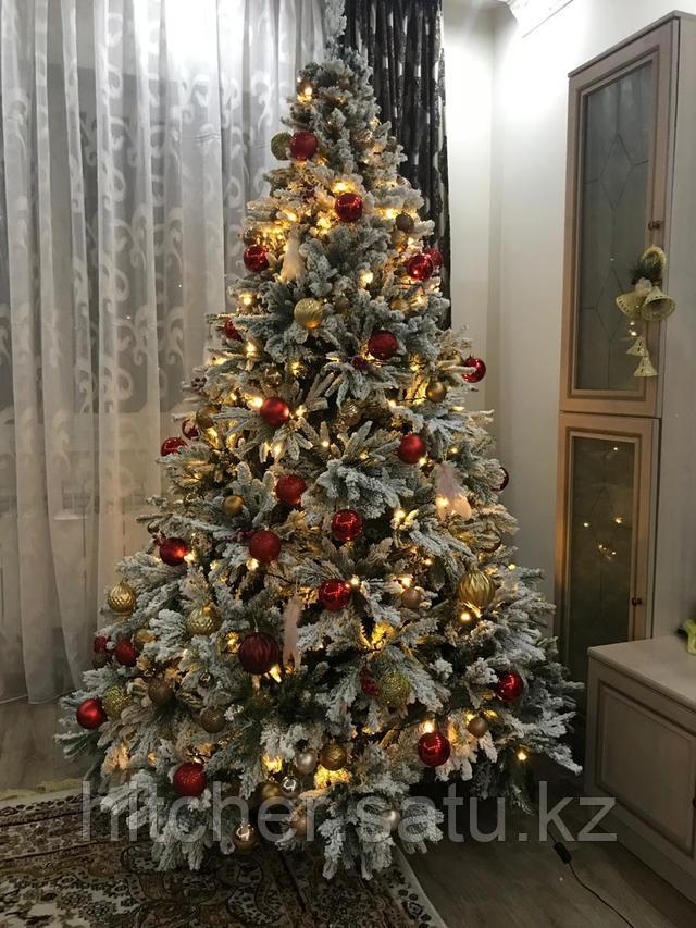 Заснеженная искусственная елка премиум класса с литой хвоей Сибирь Голд