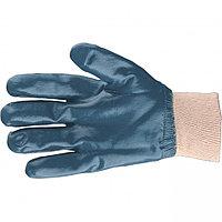 Перчатки трикотажные с обливом из бутадиен-нитрильного каучука, манжет, M Сибртех