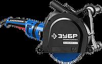 Штроборез (бороздодел), ЗУБР ЗШ-П65-2600 ПВСТК, макс. глуб. 65 мм, 230 мм, подключ. пылесоса, плавный пуск,