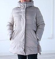 Куртка женская зимняя Vlasta, норковая отделка на капюшоне, большие размеры