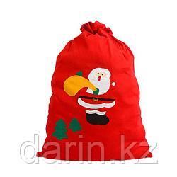 Мешок новогодний для подарков 50х60см
