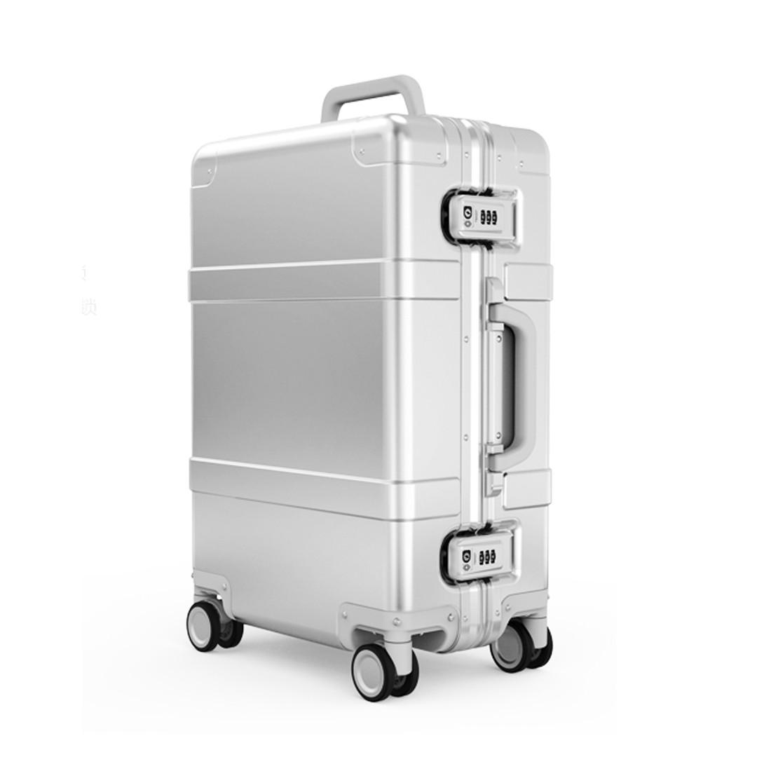 Чемодан Xiaomi XNA4026RT Metal Trolley Case 20''  (Silver)
