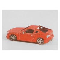 Модель 3D 'Машина' из бумаги с лазерной резкой