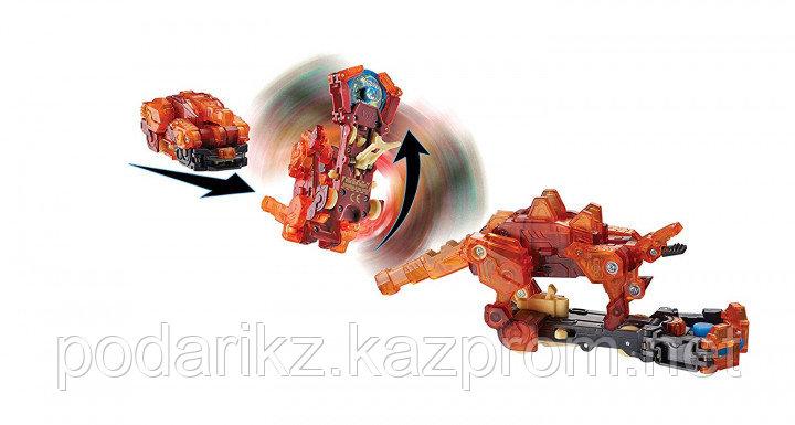 Машинка-трансформер Screechers Wild Дикие Скричеры Спайкстрип оранжевая L 2 - фото 2