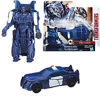 Игрушка Hasbro Трансформеры (Transformers) ТРАНСФОРМЕРЫ 5: Уан-степ Баррикейд, фото 1