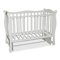 Детская кроватка Антел Северянка 2/3 Белая универсальный маятник, фото 1