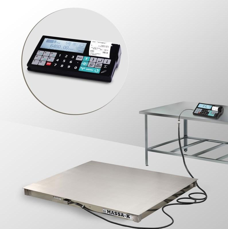 Весы платформенные с печатью чеков 4D-P.S-2_RС