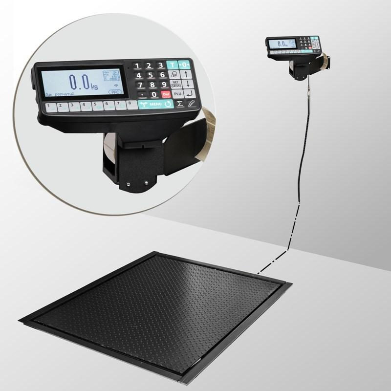 Весы врезные с печатью этикеток 4D-PMF-2_RP