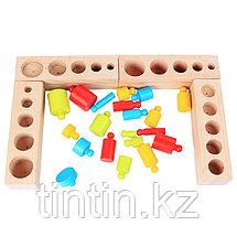 Блоки цилиндров Монтессори (Гирьки Монтессори), фото 3