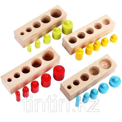 Блоки цилиндров Монтессори (Гирьки Монтессори), фото 2