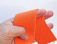 Лента эластичная, оранжевая, ширина 5 см
