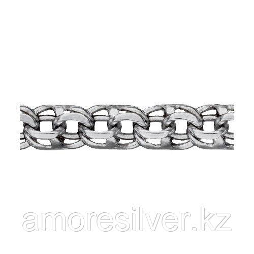 Цепь Teosa серебро с родием, без вставок, бисмарк ручной T-Б-06050р