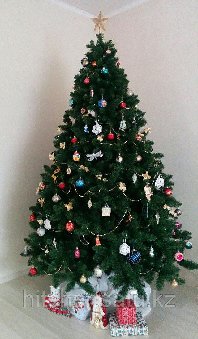 """Широкая и густая классическая новогодняя елка """"Аляска Голд"""" - 250 см"""