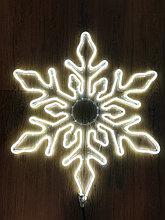 Фигура СНЕЖИНКА светодиодная(FLEX NEON) белая, 65*65